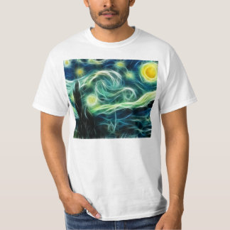 Starry Night Van Gogh Fractal Art T-Shirt