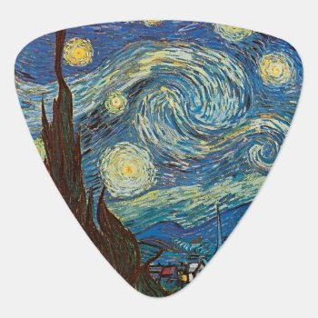 Starry Night Van Gogh Guitar Pick by FaerieRita at Zazzle
