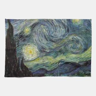 Starry Night - van Gogh Hand Towels