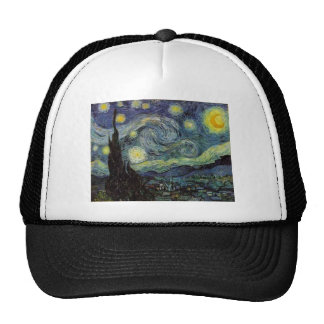 Starry Night - van Gogh Mesh Hat