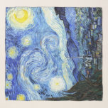 """Starry Night Van Gogh Impressionism Chiffon Scarf<br><div class=""""desc"""">Gorgeous French  Impressionism    vintage fine art    painting of The Starry Night,  by Vincent Van Gogh,           is on this  Chiffon Scarf.  Image is public domain due to expired copyright.</div>"""