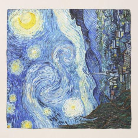 Starry Night Van Gogh Impressionism Chiffon Scarf