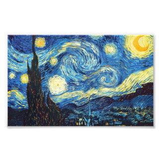 Starry Night - Van Gogh Photo Print