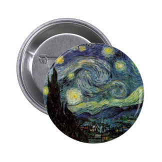 Starry Night - van Gogh Pinback Button