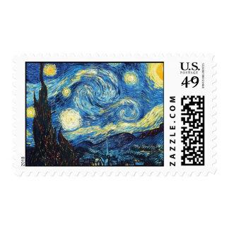 Starry Night - Van Gogh Postage