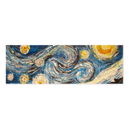 Starry Night Van Gogh repaint Bookmark Card Business Card ...