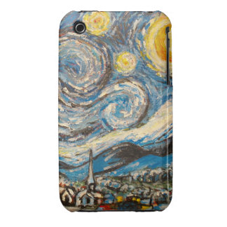 Starry Night Van Gogh repaint iPhone 3G case