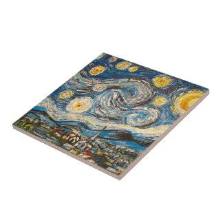 Starry Night Van Gogh repaint Tile