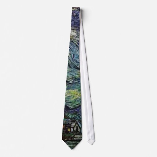 starry night Van Gogh Tie