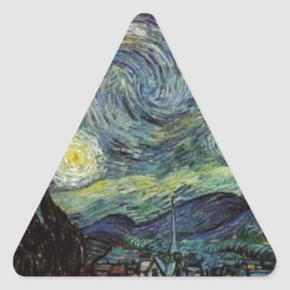 Starry Night - van Gogh Triangle Sticker