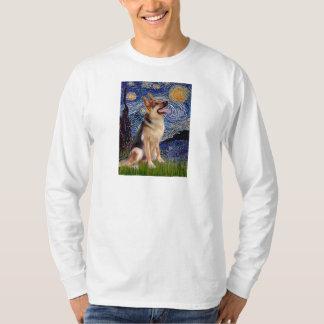 Starry Night (Vert) - German Shepherd 1 T-Shirt