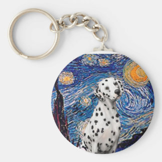 Starry Night (Vertical)  - Dalmatian Keychain
