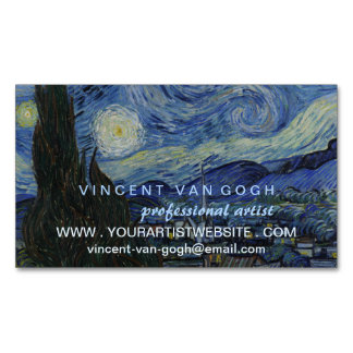 Starry Night Vincent van Gogh Artist Magnetic Business Card