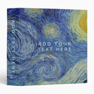 Starry Night Vincent van Gogh Binder