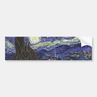 Starry Night, Vincent Van Gogh. Bumper Sticker