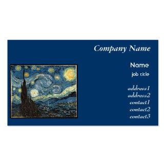 Starry Night, Vincent Van Gogh Business Card