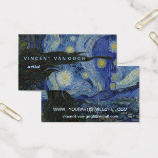 Starry Night Vincent van Gogh Business Card