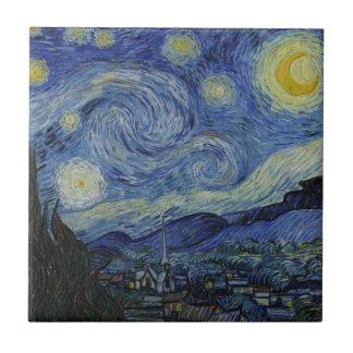 Starry Night Vincent van Gogh Ceramic Tile