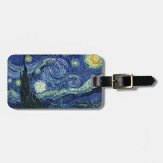 Starry Night Vincent van Gogh Fine Art Painting Bag Tag