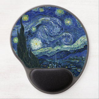 Starry Night Vincent van Gogh Fine Art Painting Gel Mouse Pad