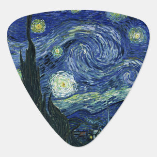 Starry Night Vincent van Gogh Fine Art Painting Guitar Pick