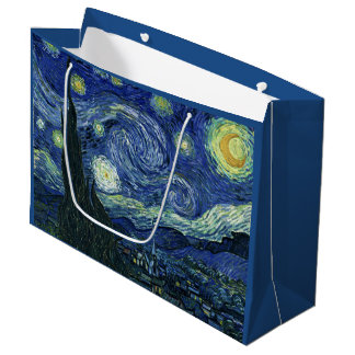 Starry Night Vincent van Gogh Fine Art Painting Large Gift Bag