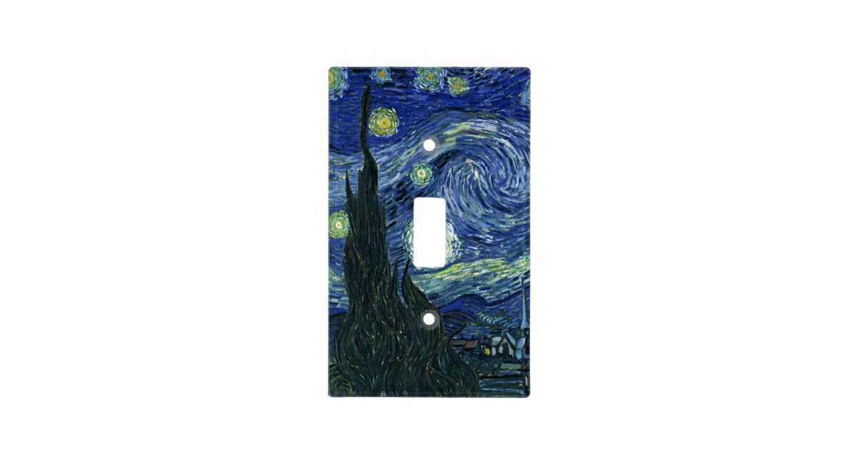 Starry Night Vincent Van Gogh Fine Art Painting Light Switch Cover Zazzle
