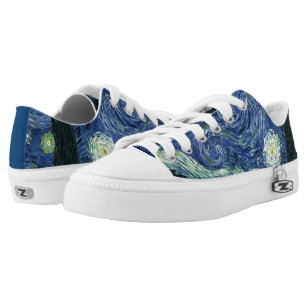 Starry Night Vincent van Gogh Fine Art Painting Low Top Sneakers