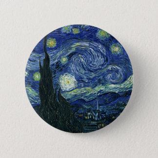 Starry Night Vincent van Gogh Fine Art Painting Pinback Button