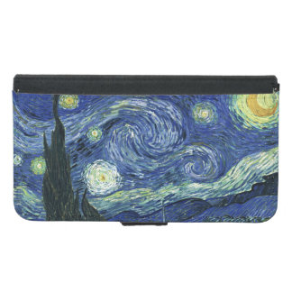Starry Night Vincent van Gogh Fine Art Painting Wallet Phone Case For Samsung Galaxy S5