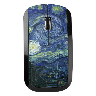 Starry Night Vincent van Gogh Fine Art Painting Wireless Mouse