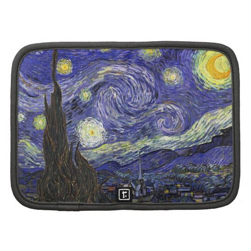 Starry Night, Vincent Van Gogh. Folio Planner
