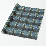 Starry Night, Vincent van Gogh gift Gift Wrap Paper