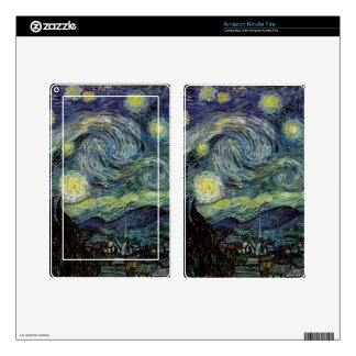 Starry Night, Vincent Van Gogh. Kindle Fire Skin