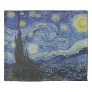 Starry Night Vincent Van Gogh King Size Duvet Cover at Zazzle