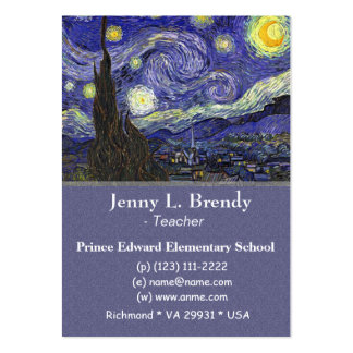 Starry Night,  Vincent van Gogh Large Business Card