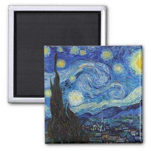Starry Night, Vincent van Gogh Magnet
