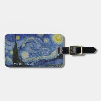 Starry Night Vincent van Gogh Painting Bag Tag
