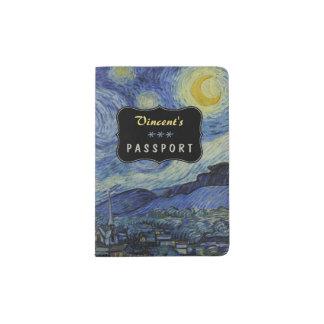Starry Night Vincent van Gogh Painting Custom Passport Holder