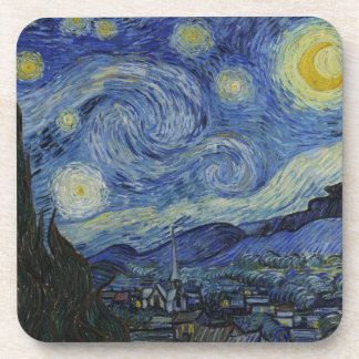 Starry Night Vincent van Gogh Painting Drink Coaster