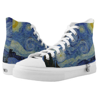 Starry Night Vincent van Gogh Painting Fine Art Printed Shoes
