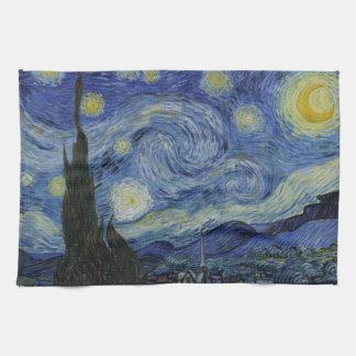 Starry Night Vincent van Gogh Painting Hand Towel