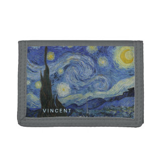 Starry Night Vincent van Gogh Painting Tri-fold Wallets