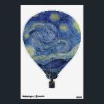"""Starry Night Vincent van Gogh Painting Wall Sticker<br><div class=""""desc"""">This beautiful, fine art design shows Dutch post-Impressionist painter Vincent van Gogh&#39;s famous painting, &quot;The Starry Night.&quot; Painted during his stay at the Saint Remy asylum in the 1880&#39;s, van Gogh depicted the rolling hills and cypress trees he saw from his window. He also added the village, which he could...</div>"""