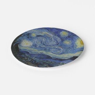Starry Night Vincent van Gogh Paper Plate