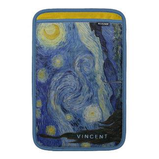 Starry Night Vincent van Gogh Personalized MacBook Air Sleeves