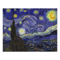 Starry Night, Vincent Van Gogh. Posters