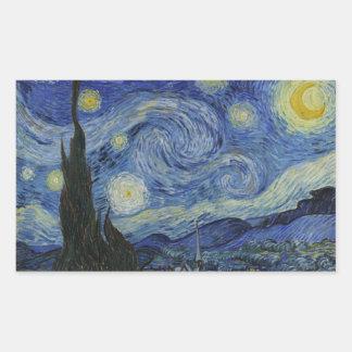 Starry Night Vincent van Gogh Rectangular Sticker