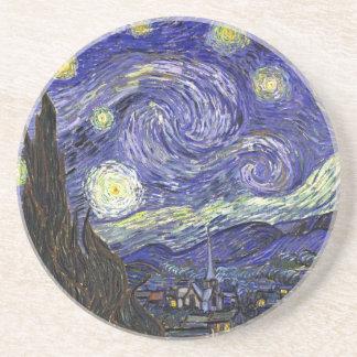 Starry Night, Vincent Van Gogh. Sandstone Coaster