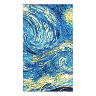 Starry Night Vincent Van Gogh simple white part 3 Business Card